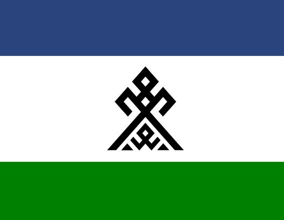 Флаг народа Чудь. Андрей Мерянин. Антон Кирпиклас.
